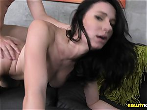 Kymberlee Anne has her smallish pussyhole stuffed with a phat trouser snake