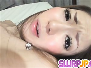 Her wet-dripping and impatient slit massaged and boinked