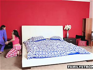 Slumber soiree nubile hump with a step-dad
