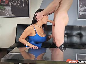 Michael Vegas spunks on sizzling black-haired Peta Jensen