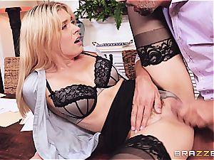 Accountant fuckslut Giselle gets drilled by a long rigid manhood