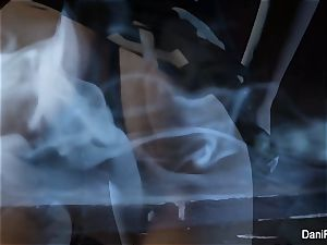 Smoking red-hot solo vignette with brunette honey Dani Daniels