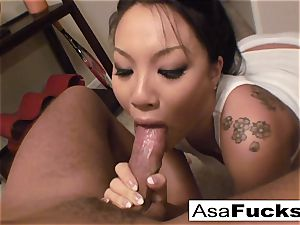 Asa gives an impressive deep gullet blowage