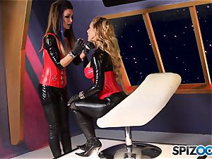 Minge munchers Jessica Jaymes and Cherie Deville get nasty on this space mission