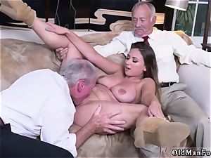 dad friend s associate first-timer hard-core Ivy makes an impression with her phat fun bags and rump