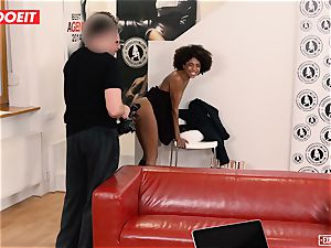 LETSDOEIT - ebony nubile ejaculates numerous Times At audition