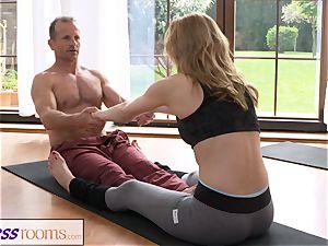 FitnessRooms filthy yoga schoolteacher wonderful fitness model