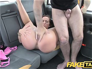 faux taxi dame in rosy lingerie gets creampied