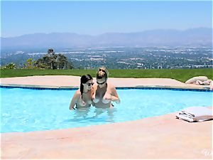 Shyla Jennings and Ryan Ryans after pool cooch party