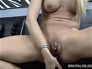 Amy Brooke double faux-cock intrusion and ass fucking prolapsing