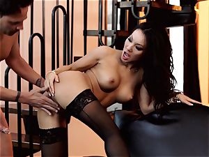 Nylons Sn 1 Asa Akira shafted in cool stockings