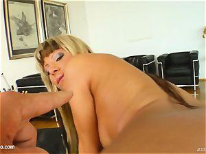 butt Traffic - Sandra Parker get her rump pulverized stiff