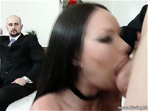 Exotic Swinger wifey screws Another guy