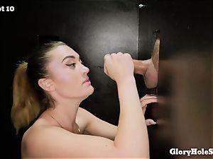 Kat Monroe blows boners at gloryhole