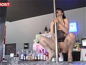 LETSDOEIT - French Stripper cockslut gangbanged at Work