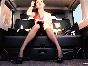 poked IN TRAFFIC - brit Tina Kay pounded in the car