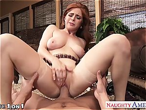 Ginger Penny Pax in point of view getting her snatch rode