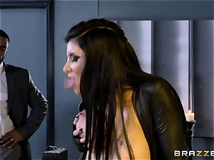 off the hook agent Romi Rain gets gash deep with the manager