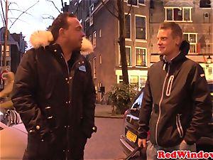huge Amsterdam escort cockriding tourist