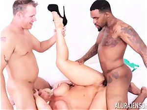 cunny slammed Alura Jenson by thick ebony spunk-pump and milky boy