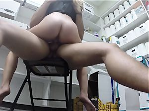 sensuous sexpot Taylor Whyte poked in the storeroom