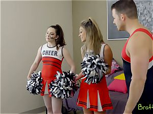 nubile cheerleader fucks her stepbrother