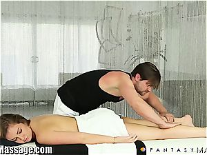 wife Maddy O'Reilly gets a rubdown and some jism