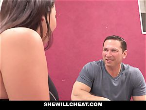 SheWillCheat hotwife gf Karlee Grey screws Trainer