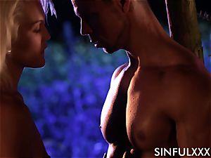Cecilia Scott in a sensual scene with a hunky dude