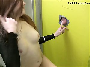 sandy-haired French babe glory fuck-hole fellatios giant white manstick