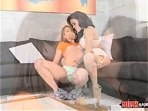 warm mummy and teen Kirsten Lee and Jamie Valentine cunt munching and filled with hard beef whistle