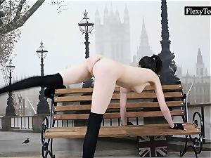 lithe Ariella showcases incredible naked gymnastics