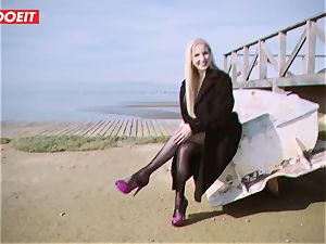 LETSDOEIT - blonde Thot romped rigid By the Beach