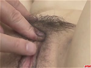 marvelous Ayane Okura gets the trunk in each fuck-hole
