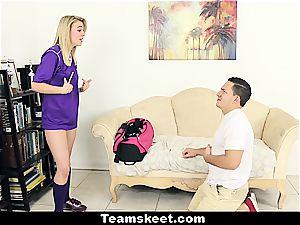 exclusive Cali handling a phat man meat in her panties