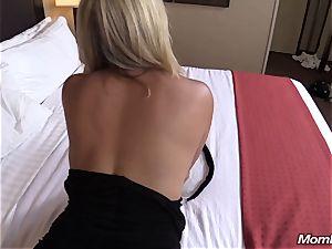 warm blonde milf internal ejaculation delight