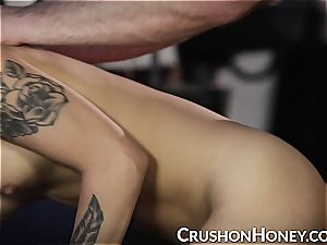 CrushGirls - small stunner Gold eyes covered and nailed