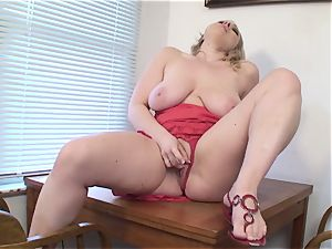 big-boobed wifey Vicky Vixen toys labia