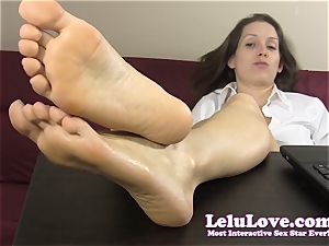 assistant teases and teases you with her nude soles