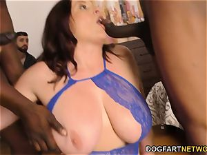 Maggie Green humps 2 giant black pricks cuckold Sessions