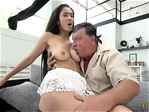hottie with humungous boobies screwed stiff