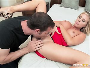 super hot wife Samantha Saint humps her hubbies step-brother