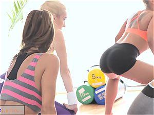 FitnessRooms teenagers ravage gym teacher's yam-sized penis