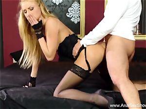 wonderful ash-blonde Takes Deep ass-fuck plowing