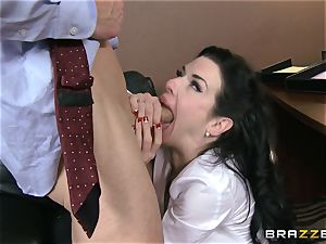 Veronica Avluv gets dirty in the office and her boss finds out