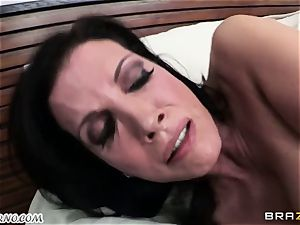sonnie observes as his father fucks his mature dominatrix with thick udders
