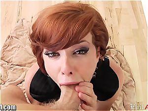 redhead Veronica Avluv point of view inhale